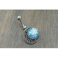 Blue Moon Belly Button Rings