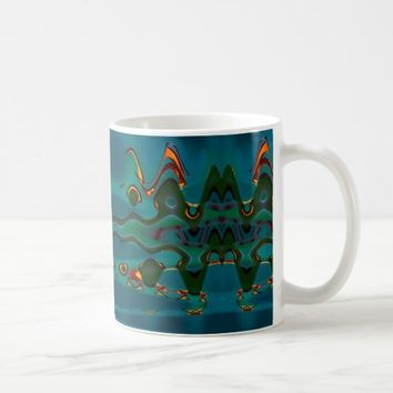 Green Waves Coffee Mug