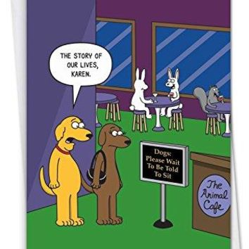 The Animal Cafe: Hysterical Birthday Card, Funny Birthday Card - Free Shipping