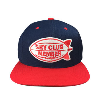 Sky Club / Member Snapback - Blue/Red