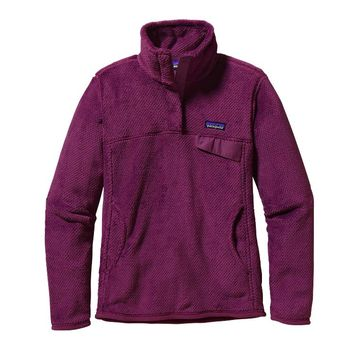 Patagonia Women's Re-Tool Snap-T® Fleece Pullover | Violet Red - Violet Red X-Dye