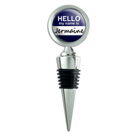 Jermaine Hello My Name Is Wine Bottle Stopper