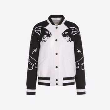 Valentino Varsity Jacket With Intarsia, Jackets for Women - Valentino Online Boutique
