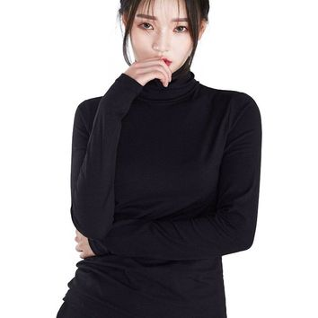 Turtle Neck Long Sleeves High Neck Top