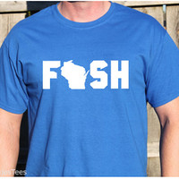 Fishing Wisconsin Shirt, Wisconsin Shirt, Fish Shirt