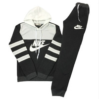 "Women Fashion ""NIKE"" Print Hoodie Top Sweater Pants Sweatpants Set Two-Piece Sportswear [11004758343]"