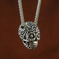 Handmade Gifts | Independent Design | Vintage Goods Day Of The Dead Sugar Skull Necklace - Jewelry - Girls