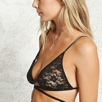 Sheer Floral Lace Bra