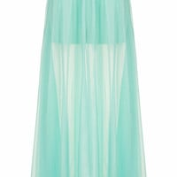 **FREE AS A BIRD SHEER OVERLAY SKIRT BY JOVONNA