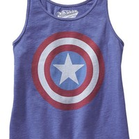 Old Navy Girls Marvel Captain America Tanks