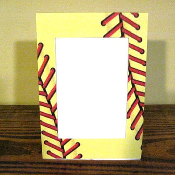 Softball Seams Picture Frame by PictureFrameMe on Etsy