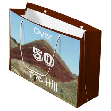 Over the Hill 50th Birthday Large Gift Bag