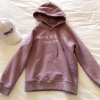 ICIKN7K BURBERRY Women Embroidery LOGO Hot Hoodie Cute Sweater