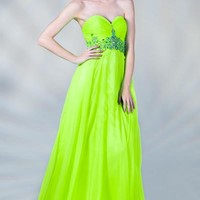 PRIMA C137664 Neon Chiffon Prom Dress