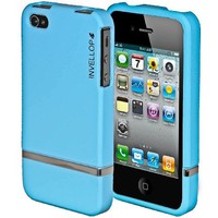 iPhone 4S case, INVELLOP Light Blue [Slider Series] case for Apple iPhone 4 4S case bumper cover