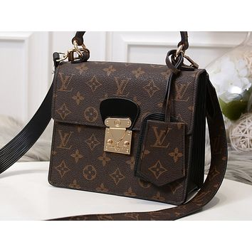LV Fashion Hot Selling Women's Single Shoulder Bag with Pink Shopping Bag Coffee