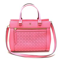 Kate Spade Romy Perri Lane Cabaret Pink Leather Satchel/ Crossbody Bag (Pink) #WKRU3548