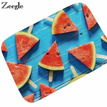 Autumn Fall welcome door mat doormat Zeegle Flannel s Outdoor Fruit Printed Kitchen Mats Hallway Rugs Anti-slip Living Room Rug Bedroom Carpets Bathroom Mats AT_76_7
