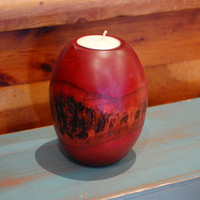 Pillar Bark Candle Holders