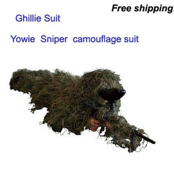 New Forest Design Camouflage Ghillie Suit grass type hunting clothing,yowie Sniper 3D bionic camouflage suit