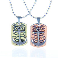 metal chain men necklace, couple necklace, women metalwork necklace  FP012