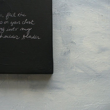 love notes -quote painting romantic gift wedding groom