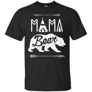 Mama Bear Papa Bear Family T shirt Matching Couple Gifts Tee