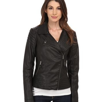 Jessica Simpson Moto Faux Leather with Stich Detail