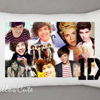 "1D Direction College on Pillow Case, Pillow Case Cover Bedding Gift Idea 30"" x 20"""