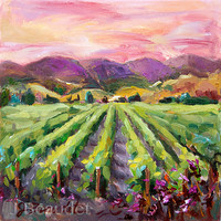 Giclee Print of Original Oil PaintingCalifornia by JBeaudetStudios