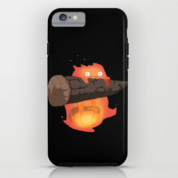 Calcifer iPhone & iPod Case by Oujo