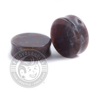 Purple Carnelian Agate Stone Plugs