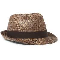 Paul Smith Shoes & Accessories - Woven Straw Fedora Hat | MR PORTER