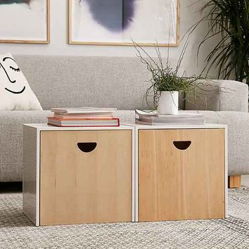 Perforated Storage Ottoman