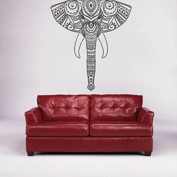 kik1646 Wall Decal Sticker the elephant-headed god Ganesha Indian decoration living room bedroom
