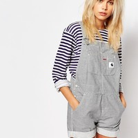 Carhartt Dungaree Playsuit In Hickory Stripe at asos.com