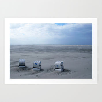 www - beach chairs Art Print by findsFUNDSTUECKE