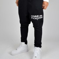 Comme Des Fuckdown Drop Crotch Sweat Pant Bottoms CJ01 - Black