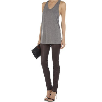 T By Alexander Wang Pocket Racerback Top Gray