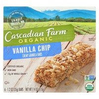 Cascadian Farms Organic Chewy Granola Bars Vanilla Chip - 6 Bars