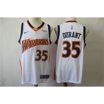 Men's Golden State Warriors Kevin Durant Mitchell & Ness White Swingman Jersey - Best Deal Online