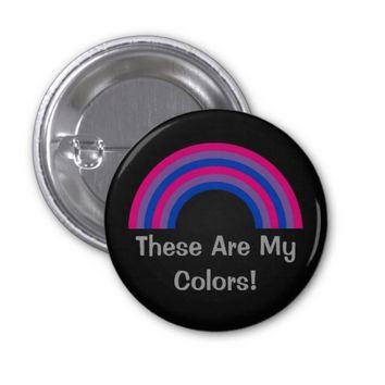 Bisexuality rainbow pride Button