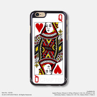 Red heart Queen poker Free Shipping iPhone 6 6Plus case iPhone 5s case iPhone 5C case 169