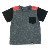 Charcoal & Red Color Block Tee - Infant, Toddler & Boys