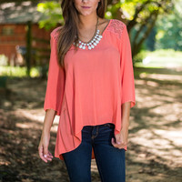 Anyplace Is Paradise Top, Coral