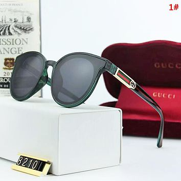 GUCCI Sunscreen Travel New Fashion Polarized Stripe Women Men Glasses Eyeglasses 1#