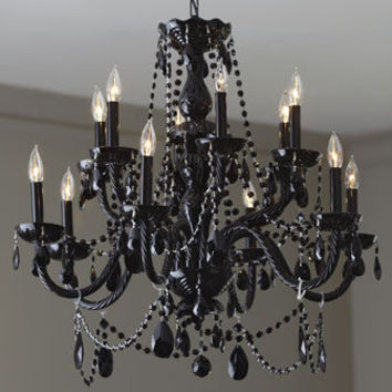 """Grand Noir"" Chandelier - Horchow"