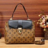 Louis Vuitton Women Fashion Leather Shoulder Bag Satchel Crossbody-4