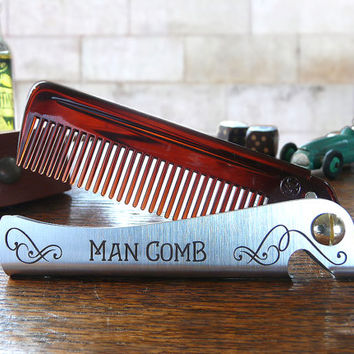 Man Comb. The ultimate tool for your hair, beard and beer.