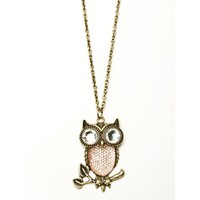 Owl Branch Necklace